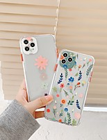 cheap -Case For iPhone 11 Transparent Pattern Back Cover Flower Silicone Case For iPhone 11 Pro Max / SE2020 / XS Max / XR XS 7 / 8 7 / 8 plus