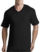 cheap -by dxl big and tall 3-pk. v-neck t-shirts, black, 7xlt