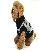 cheap -black reindeer dog sweater (s)