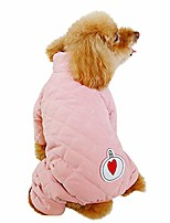 cheap -dog clothing for winter, pet warm coat with love pattern decoration, pet snowsuit outerwear, pet cold weather outfits, warm jacket for small/medium/large dogs, pet autumn winter apparel (xl, pink)