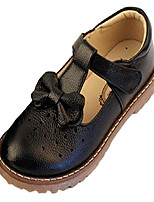 cheap -girls cute bow mary jane dress wedding shoes strap leather princess flats black 10 m us toddler
