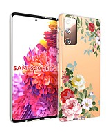 cheap -Case For Samsung Galaxy S20 FE Transparent Pattern Back Cover Flower TPU Soft Galaxy S20 Plus Note 20 Ultra Note 10 Plus A11 A21S A31 A41 A51 A71 A81 A91