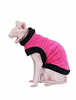 cheap -luxury丨handmade丨rose red super-warm cat sweater with double-thick fleece-best for hairless cat (s)