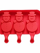 cheap -popsiclemolds cartoon homemade candy popsiclemolds multi cavities reusable non stick ice cream soft silicone (bear claw,/snowman/ellipse)