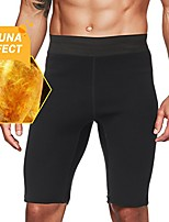 cheap -men's hot sweat sauna pants thermo slimming shorts thigh shaper for workout neoprene body shaper l
