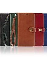 cheap -Case For LG Stylo 5 K61 K50S Wallet Card Holder with Stand Full Body Cases Solid Colored PU Leather Case For LG K40S K20 K30(2019) W10 W30 K50 K40