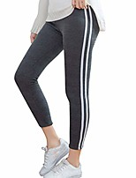 cheap -leggings for women, ladies striped print elastic exercise fitness running yoga pants(dark gray,m)