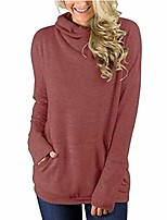 cheap -limsea women daily fashion soild pocket loose long sleeve t shirt