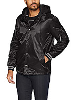 cheap -men's coach jacket with detachable hood, black, xl