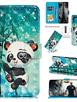 cheap -Case For Samsung Galaxy Galaxy S20 FE 5G / S20 Plus / S20 Ultra Wallet / Card Holder / with Stand Full Body Cases Panda PU Leather