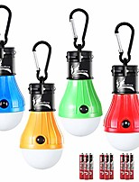 cheap -battery operated hanging tent light bulbs compact led camping night light (pack of 4,blue+yellow+red+green)