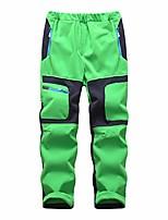 cheap -kids boys girls waterproof outdoor hiking pants warm fleece lined apple green
