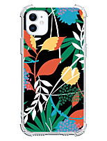 cheap -Floral / Botanical Case For Apple iPhone 12 iPhone 11 iPhone 12 Pro Max Unique Design Protective Case Shockproof Back Cover TPU