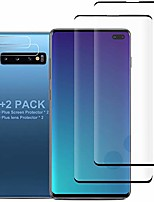 cheap -[4 pack] galaxy s10 plus screen protector include 2 pack tempered glass screen protector+2 pack tempered glass camera lens protector,9h hardness,hd transparent,scratch-resistant for galaxy s10 plus