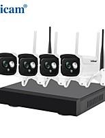 Недорогие -sricam nvs001 4ch wifi nvr kit mini 1080p водонепроницаемая ip-камера безопасности h.265 nvr запись видеонаблюдение беспроводная камера видеонаблюдения