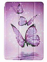 cheap -Case For Amazon HD8(2020) Amazon HD8(2017) Amazon Fire7(2017) with Stand Flip Pattern Full Body Cases Purple Butterfly PU Leather TPU for Amazon HD8(2016) Amazon Fire7(2015)