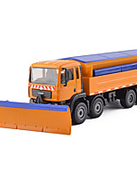 cheap -KDW 1:50 Plastic Alloy Snow Shovel Engineering Vehicle Alloy Car Model Deformation Simulation All Adults Kids Car Toys