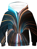 cheap -Kids Boys' Active 3D Long Sleeve Hoodie & Sweatshirt Rainbow