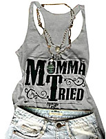 cheap -women's momma tried letter printed cami tank sleeveless casual vest t-shirt (large, grey)