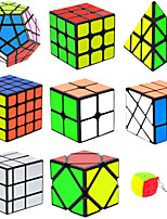 cheap -Speed Cube Set 9 pcs Magic Cube IQ Cube 2*2*2 3*3*3 Speedcubing Bundle Stress Reliever Puzzle Cube Smooth Office Desk Toys Brain Teaser Pyramid Mirror Megaminx Kid's Adults Toy Gift
