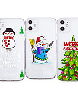 cheap -Case For Apple iPhone 12 / iPhone 12 Mini / iPhone 12 Pro Max Shockproof / Transparent Back Cover Christmas TPU