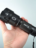 cheap -FX13 LED Flashlights / Torch LED LED 1 Emitters 3 Mode Portable Adjustable LED Durable Camping / Hiking / Caving Everyday Use Cycling / Bike White Light Source Color Black