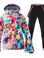 cheap -women's ski jackets and pants set ski suit women waterproof windproof insulated hoodie