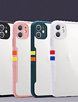 cheap -Case For iPhone 11 Shockproof Back Cover Transparent Solid Colored TPU Acrylic Case For iPhone 11 Pro Max / SE2020 / XS Max / XR XS 7 / 8 7 / 8 plus