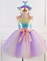 cheap -Princess Masquerade Costume Girls' Movie Cosplay Tutus Plaited Purple / Pink Dress Headwear Christmas Halloween Carnival Polyester / Cotton Polyester
