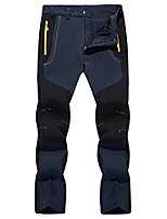 cheap -mens quick dry outdoor camping climbing trousers lightweight fishing pants with zipper pockets navy