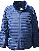 cheap -Hiking Jacket Winter Outdoor Thermal Warm Windproof Breathable Camping / Hiking Hunting Fishing Wine red (female) Rose red (female models) Black (male) Black (female) Dark blue (male models)