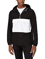 cheap -a|x armani exchange men's blouson jacket with one middle pocket and armani exchange, black/white, xxl