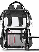 cheap -clear backpack transparent bag bookbag stadium bag (grey)