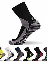 cheap -not waterproof but windproof socks, [sgs certified] unisex mid calf sport climbing cycling hiking socks 1 pair s