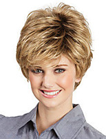 cheap -Synthetic Wig Curly Asymmetrical Wig Short Blonde Synthetic Hair Women's Fashionable Design Exquisite Blonde