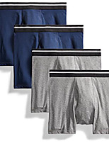 cheap -men's 4-pack tag-free boxer briefs, charcoal/dark navy, x-small