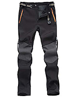 cheap -men's outdoor fleece lined softshell pants water repellent quick dry hiking camping pants with belt black xxl