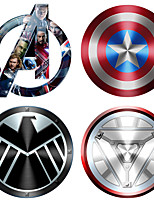 cheap -12*12cm Creative 3D stereo car sticker color paste personality body simulation small yellow man Avengers decorative stickers