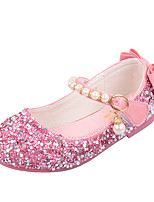 cheap -Girls' Flats Comfort / Flower Girl Shoes / Princess Shoes Patent Leather / PU Little Kids(4-7ys) Walking Shoes Bowknot / Pearl Pink / Gold / Silver Spring / Fall / Party & Evening