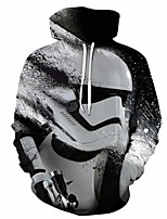 cheap -Inspired by Cosplay Robot Cosplay Costume Hoodie Plush Fabric 3D Printing Hoodie For Men's / Women's