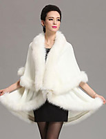 cheap -Long Sleeve Capes Faux Fur Wedding / Party / Evening Shawl & Wrap / Women's Wrap With Split Joint / Solid / Color Block