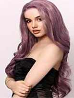 cheap -Synthetic Wig Body Wave Middle Part Wig Long Very Long Violet Pink Synthetic Hair 65 inch Women's Party Highlighted / Balayage Hair Middle Part Purple
