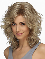 cheap -Synthetic Wig Curly Asymmetrical Wig Short Brown Blonde Silver Synthetic Hair 8 inch Women's Fashionable Design Exquisite Fluffy Blonde Brown