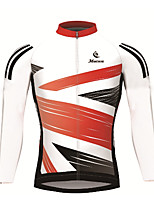 cheap -Malciklo Men's Long Sleeve Cycling Jersey Polyester Blue / White Black / White National Flag Bike Jersey Breathable Quick Dry Ultraviolet Resistant Reflective Strips Sweat-wicking Sports National Flag