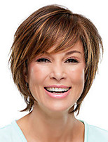 cheap -Synthetic Wig Straight Pixie Cut Wig Short Light Brown Dark Brown Synthetic Hair Women's Fashionable Design Exquisite Dark Brown Light Brown