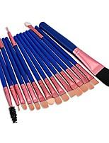 cheap -15pcs professional cosmetic makeup brush women foundation eyeshadow eyeliner lip eye brushes set (blue rose gold)