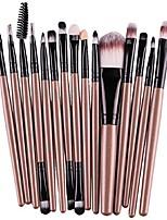cheap -15 pcs/sets eye shadow foundation eyebrow lip brush makeup brushes tool (gold)