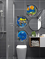 cheap -3D Wall Stickers 3D Wall Stickers Decorative Wall Stickers, PVC Home Decoration Wall Decal Wall / Floor Decoration 3pcs / 1pc