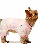 cheap -embroidery unicorn dog clothes thermal thick velvet puppy pajamas doggie outfits cat onesies jumpsuits xl