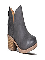 cheap -cute western cowboy bootie - womens pointed toe slip on ankle boot - zip up low heel - levi by ,grey pu,9 b(m) us